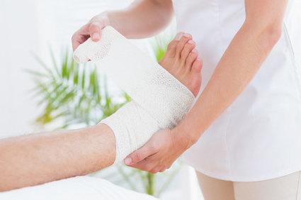 Nas pernas úlceras que são o